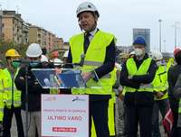 Fincantieri, Genoa has its own ship-bridge, the final step on April 28, 2020. The PM Giuseppe Conte during his speech