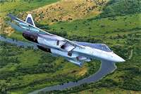 Su-57 Sukhoi fighter aircraft, multirole of fifth generation